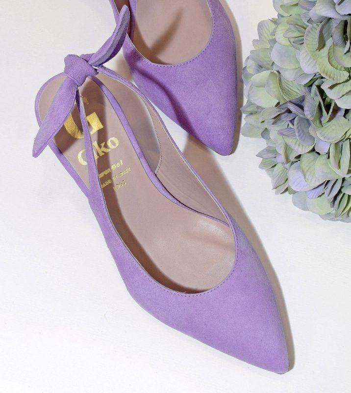 zapatos con lazo de la tienda zapatos violeta manon en valencia